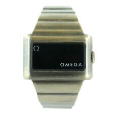 OMEGA VINTAGE '74s TIME COMPUTER DIGITAL RED LED-LCD S.S. WATCH FOR PARTS/REPAIR