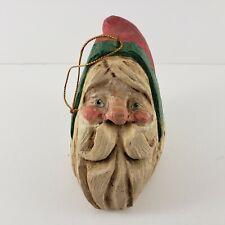 Vintage 1988 House of Hatten Christmas Ornament Santa Claus Head