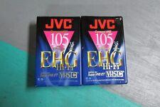 Lot of 2 NEW JVC Compact VHS TC-35 EHGB Camcorder Tape 35 Minutes SP mode Hi-Fi