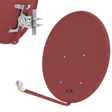 OPTICUM 80 cm ALU Aluminium Satelliten SAT Spiegel Schüssel Antenne LH ziegelrot