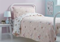 BALLET DANCERS FLORAL BUNCHES PINK COTTON BLEND SINGLE DUVET COVER