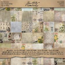 "Tim Holtz Idea-Ology Paper Stash/ Pad Wallflower 12""X12"" 30,5x30,5 cm 36 Bögen"