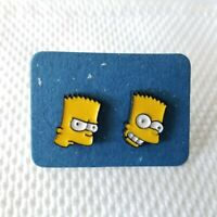 The Simpsons MARGE Cartoon Character Metal Gold Tone Drop Dangle Hook Pierced Earrings With Gift Box