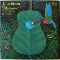 JULIAN BREAM / PLAYS VILLA LOBOS / VICTOR JAPAN SX-2027