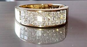 Original 14k Solid Yellow Gold 1.00ct Weiß Diamant G-H i1-i2 Band Ehering N