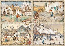 NEW! Jumbo Games 4 Seasons by Anton Pieck 1000 piece nostalgic jigsaw puzzle
