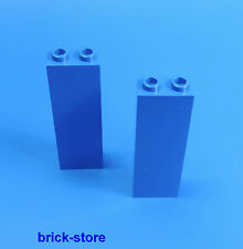 LEGO azul 1x2x5 Bloque de pared Columna / Postes / construcción base / 2 Piezas