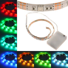Christmas LED Strip Light 5050 RGB Waterproof Tape AA Battery Powered Lamp Light