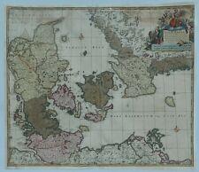 Map of Denmark - DANIA REGNUM DUCATUS HOLSTIA ET SLESVICUM by Shenk in c1690