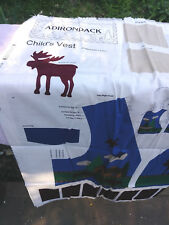 Craft Cranston Collection Adirondack Childs Vest Cutout Pattern Fabric