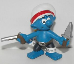 20767 Buccaneer Smurf Figurine from 2014 Pirate Set Plastic Miniature Figure