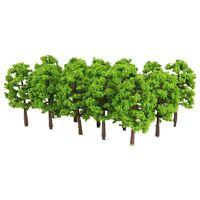 Kunststoff Modell Baum Zug Eisenbahn Landschaft 1: 100 20 Stk. Dunkelgruen GY