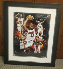 Alonzo Mourning Autographed Litho Framed. Miami Heat. Upper Deck.#30/33. HoF