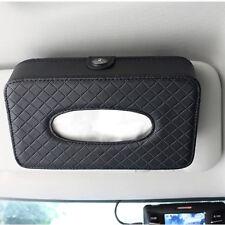 PU Leather Car Sun Visor Facial Tissue Box Paper Towel Case Cover Napkin Clip