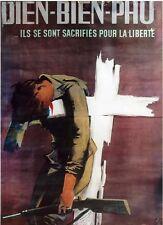 AFFICHE SOLDAT DIEN BIEN PHU 50cm X 70cm RARE Armée Française Indochine