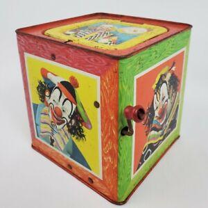 Mattel Clown Jack In The Box Non Working No Clown Vintage 1953