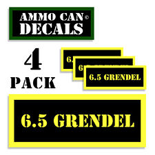 6.5 GRENDEL Ammo Can Label Ammunition Case stickers decals 4 pack YW MINI 1.5in