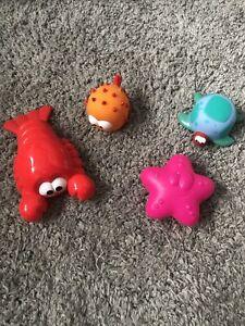 Sea Creature Toy Playset X 4
