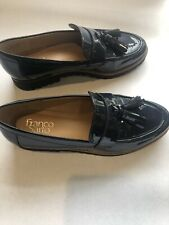Franco Sarto Navy Blue Patten Leather Loafer women's shoes size 8.5
