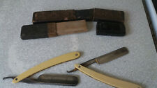 2 x ANTIQUE / VINTAGE STRAIGHT CUT THROAT RAZORS- PEARL & GLORIA