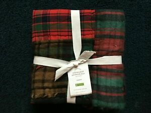 NEW Pottery Barn Sullivan Plaid Patchwork Quilted Standard Euro Sham Pillow NWT