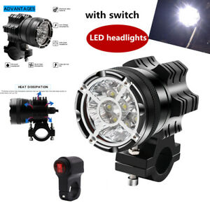 9 beads Motorcycle ATV Car Explosion-proof Network LED Glare Headlights w/switch
