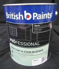 BRITISH BY DULUX 4 LITRE OIL-BASE PREP-COAT&STAIN BLOCKER 4-1 WHITE colour paint