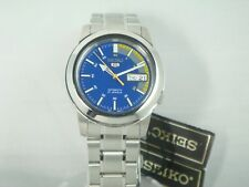 Seiko 5 Automatic watch for Men Sky Blue dial stainless steel band snkk27