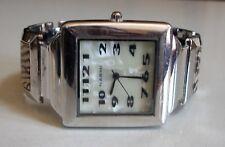 Silver Finish/Acrylic Band Women's Bangle Fashion Animal Pattern Casual Watch