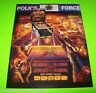 Police Force Pinball FLYER Original NOS Williams 1989 Promo Artwork Cops Robbers