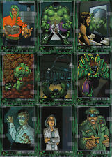 THE INCREDIBLE HULK THE MOVIE COMPLETE SET OF 10 ILLUSTRATED CARDS