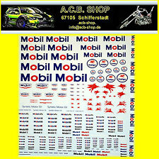 Mobil Sponsoren Bogen 1:18 Decal Abziehbilder