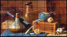 36x20 Irish Still Life with Copper Tankard Fine Art Tumbled Marble Tiles