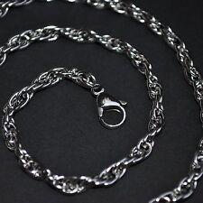 ACERO inox. Collar Cadena eslabones INOXIDABLE 56cm 5mm RESISTENTE K17