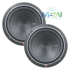 """(2) ROCKFORD FOSGATE P1S4-10 10"""" PUNCH P1 4-OHM SUB WOOFERS SUBS 500W RMS *PAIR*"""