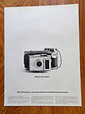 1961 Polaroid Land Camera Ad What's the Catch?  Only $74.95