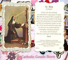 St. Rita with Saint Rita - A Prayer - Scalloped trim - Paperstock Holy Card