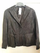 Marks And Spencer Fine Suede Brown Blazer Size 14 BNWT