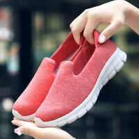 Women Casual Breathable Sneakers Flat Stretch Sole Walking Shoes loafers jogging
