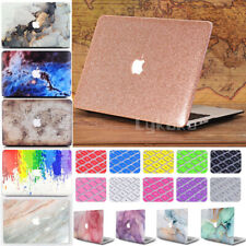"""2in1 Leather/ Marbled Matte Hard Case Cover for Macbook Pro Air11"""" 12"""" 13 15"""" M1"""