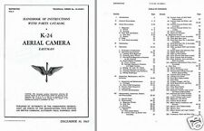Eastman K-24 Ariel Camera manual WW2 F-24 photo reconnaissance aircraft P-51 F-6