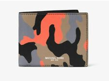 Michael Kors Harrison New Men's Slim Bifold wallet -BrightOrange