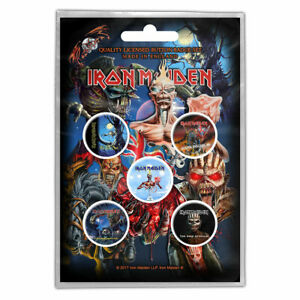 IRON MAIDEN - CLASSIC LATER ALBUM COVERS -  BUTTON BADGE PACK