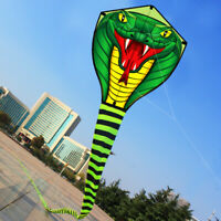 8m Green Long Snake Kites New High Quality Outdoor Fun Sports kite easy to fly