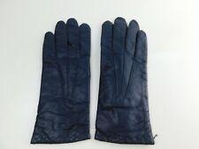 Vintage Ladies Sz M Medium Black Leather Gloves