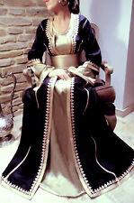 ELEGANT Moroccan Kaftan Long Dress Abaya Jilbab Islamic Kheleeji Arabian Caftan6