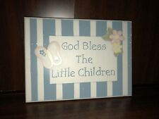 God Bless The Little Children Plaque