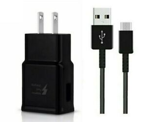 Fast Wall + Charger USB Type C Cable For Samsung Galaxy S20/S20 FE Black