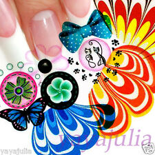 11 Sets Flower Nail Art Decal Water Slide Transfer Temporary Tattoo Stickers W44