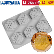 Silicone Mould 6 Hole Honey Bee Design Soap Wax Mold for Handmade DIY Craft AU